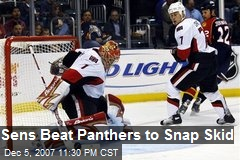 Sens Beat Panthers to Snap Skid