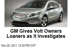 General Motors Lending Cars to Chevrolet Volt Owners Amid Probe