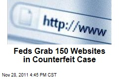 Federal Officials Seize 150 Websites in Counterfeit Case