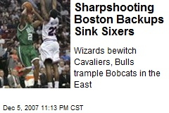 Sharpshooting Boston Backups Sink Sixers
