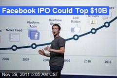 Facebook IPO Could Top $10B