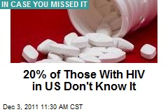 20% of Those With HIV in US Don't Know It