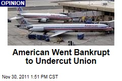 American Airlines Bankruptcy Designed to Cut Union Benefits, Stephen Gandel Observes