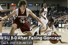 WSU 8-0 After Felling Gonzaga