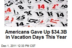 Americans Gave Up $34.3B in Vacation Days This Year