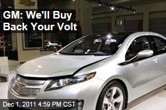 General Motors CEO Dan Akerson Says GM Will Buy Back Chevy Volts if Owners Are Worried About Fires