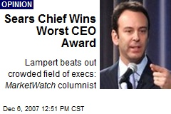 Sears Chief Wins Worst CEO Award