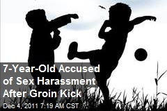 7-Year-Old Accused of Sex Harassment After Groin Kick