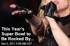 Madonna Performing at Super Bowl XLVI Halftime Show