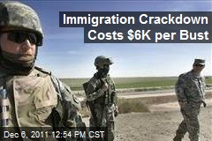 Immigration Crackdown Costs $6K per Bust