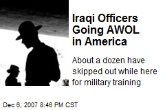 Iraqi Officers Going AWOL in America