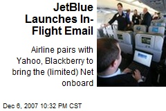 JetBlue Launches In-Flight Email