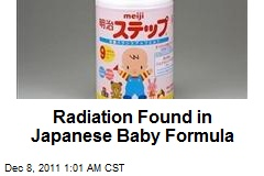 Radiation Found in Japanese Baby Formula