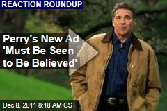 VIDEO: Rick Perry's New Campaign Ad 'Must Be Seen to Be Believed,' Mitt Romney's New Ad Takes Swing at Newt Gingrich
