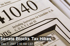 Senate Blocks Tax Hikes