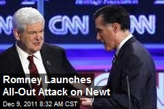 Romney Launches All-Out Attack on Newt