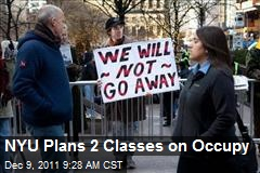 NYU Plans 2 Classes on Occupy