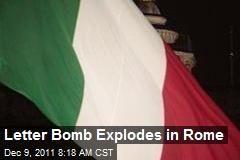 Letter Bomb Explodes in Rome