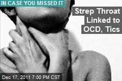 Strep Throat Linked to OCD, Tics