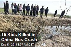 15 Children Killed in School Bus Accident in China's Jiangsu Province