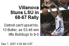Villanova Stuns LSU in 68-67 Rally