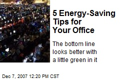 5 Energy-Saving Tips for Your Office