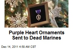 Purple Heart Ornaments Sent to Dead Marines