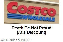 Death Be Not Proud (At a Discount)