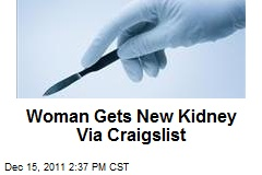 Woman Gets New Kidney Via Craigslist