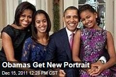 White House Releases New Family Portrait of Barack Michelle, Malia, and Sasha Obama