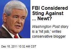 Newt Gingrich Was Nearby FBI Sting Target Over Alleged Bribe
