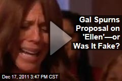 Woman Rejects Marriage Proposal on Ellen—Or Was It Fake?