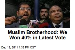 Egypt's Muslim Brotherhood: We Won 40% of Votes in Second Round