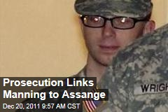 Bradley Manning Trial: Prosecution Links His Computer to Julian Assange
