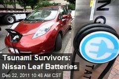 Tsunami Survivors: Nissan Leaf Batteries