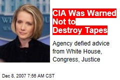 CIA Was Warned Not to Destroy Tapes