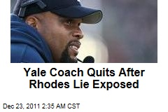 Yale Coach Tom Williams Quits After Rhodes Scholarship Fib Exposed