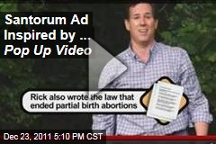 Rick Santorum Ad Inspired by VH1's 'Pop Up Video'