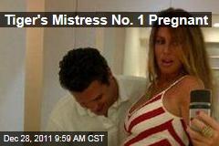 Rachel Uchitel, Tiger's Mistress No. 1, Pregnant