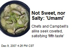 Not Sweet, nor Salty: 'Umami'