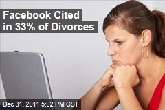 Facebook Cited in 33% of Divorces: Law Firm