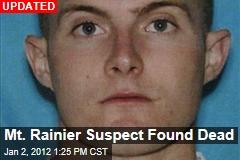 Mt. Rainier Suspect Found Dead