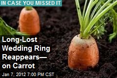 Long-Lost Wedding Ring Reappears— on Carrot