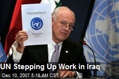 UN Stepping Up Work in Iraq