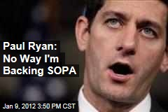 Paul Ryan Opposes Stop Online Piracy Act After Pressure From Reddit