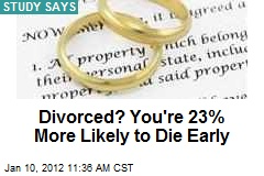 Divorced? You're 23% More Likely to Die Early