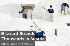 Blizzard Strands Thousands in Austria