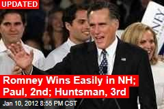 Romney Still Poised for Big NH Win