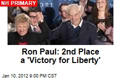 Ron Paul: 2nd Place a 'Victory for Liberty'