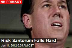 Rick Santorum Falls Hard